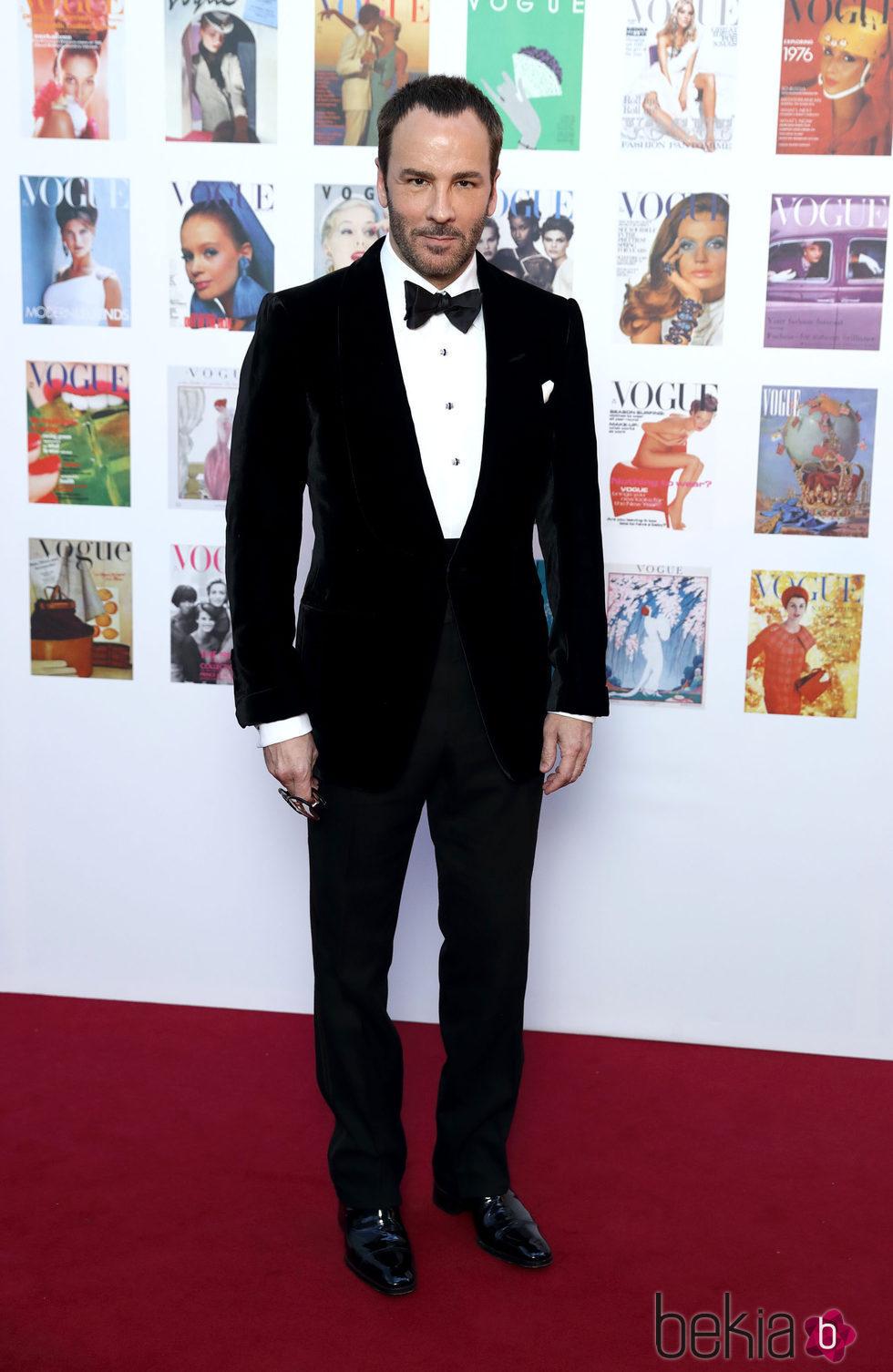 Tom Ford en la fiesta del 100 aniversario de Vogue en Londres