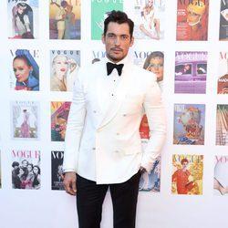 David Gandy en la fiesta del 100 aniversario de Vogue en Londres