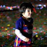 Milan Piqué, feliz en la celebración de la Copa del Rey 2016