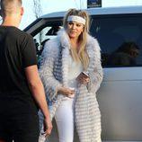 Khloe Kardashian en la fiesta de cumpleaños de Scott Disick