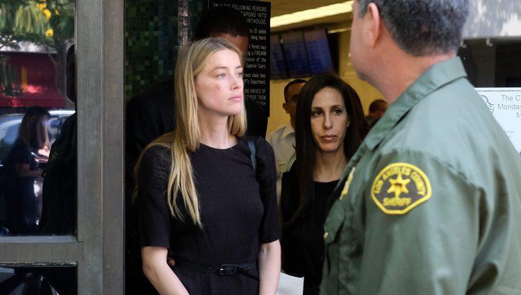 Amber Heard en los juzgados de Los Ángeles