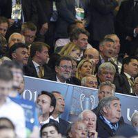 El presidente del Gobierno en funciones, Mariano Rajoy, en la final de la Champions League 2016