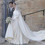 Alejandro Santo Domingo y Charlotte Wellesley durante su boda en Granada