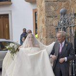 El duque de Wellesley acompañó a su hija Charlotte Wellesley al altar en Granada