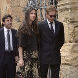 Andrea Casiraghi y Tatiana Santo Domingo durante la boda de Alejando Santo Domingo y Charlotte Wellesley