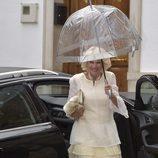 Camilla de Cornualles durante la boda de Alejandro Santo Domingo y Charlotte Wellesley