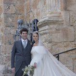 Alejandro Santo Domingo y Lady Charlotte Wellesley durante su boda en Granada