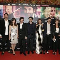Amaia Salamanca, Michelle Jenner, Eduardo Noriega, Gabino Diego y Fele Martínez, entre otros, en el estreno de 'Nuestros Amantes'