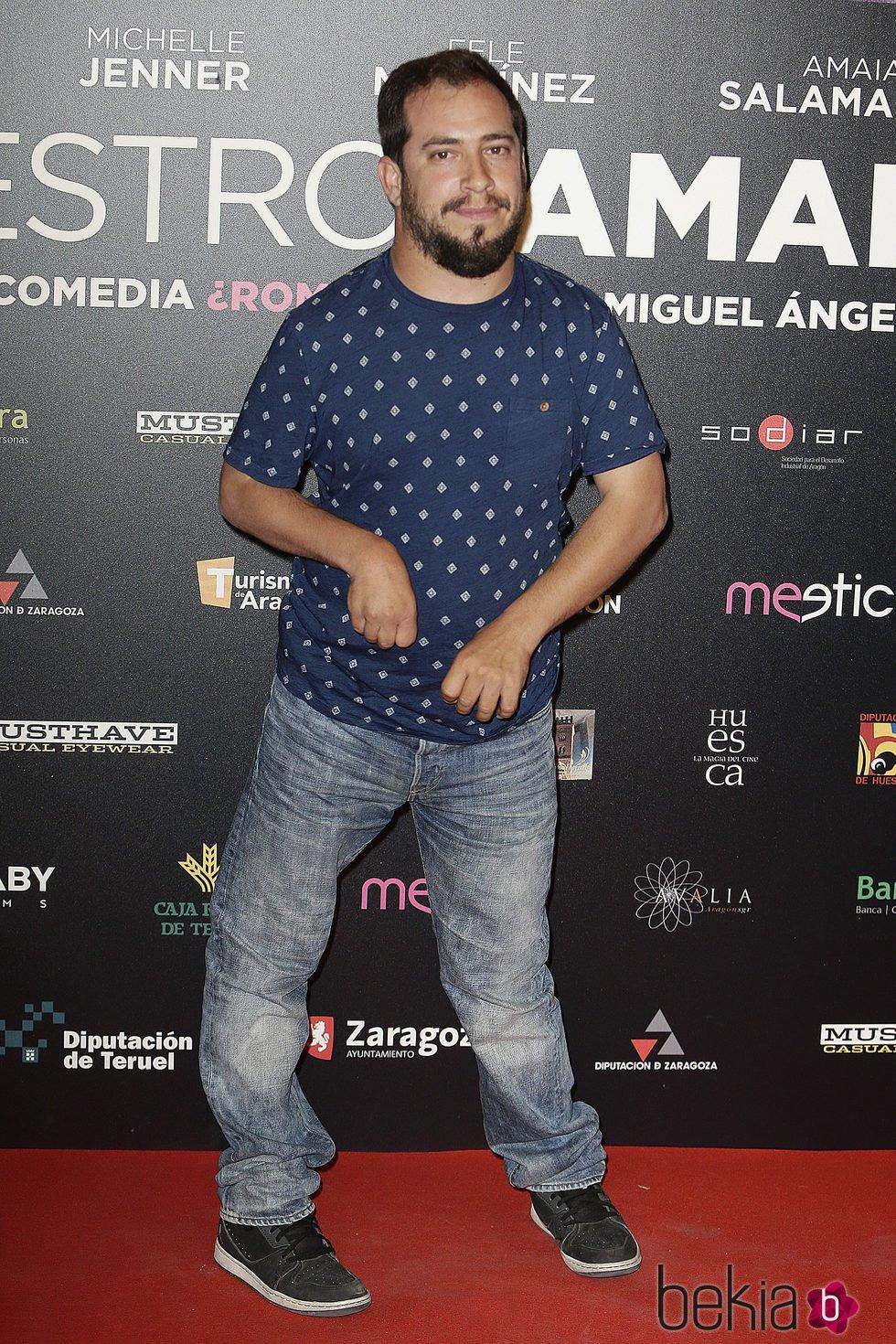 Juan Manuel Montilla 'El Langui' en el estreno de 'Nuestros Amantes'