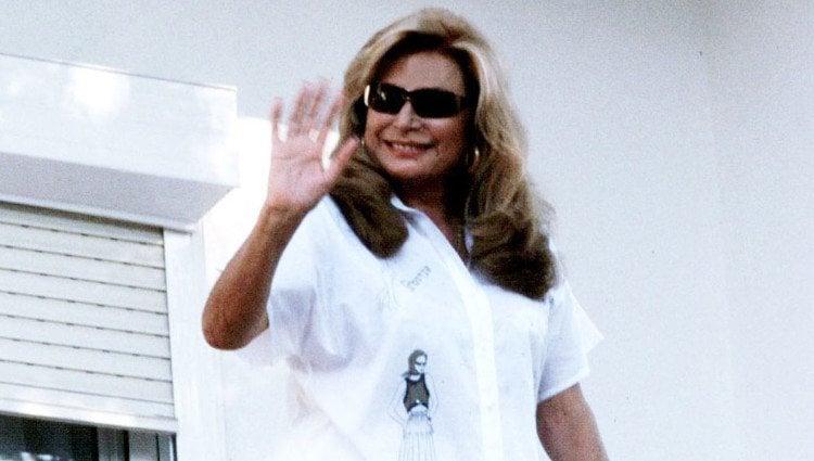 Rocío Jurado en su casa de Chipiona en 2001