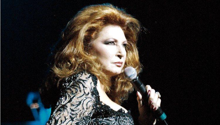 Rocío Jurado en un concierto en Miami