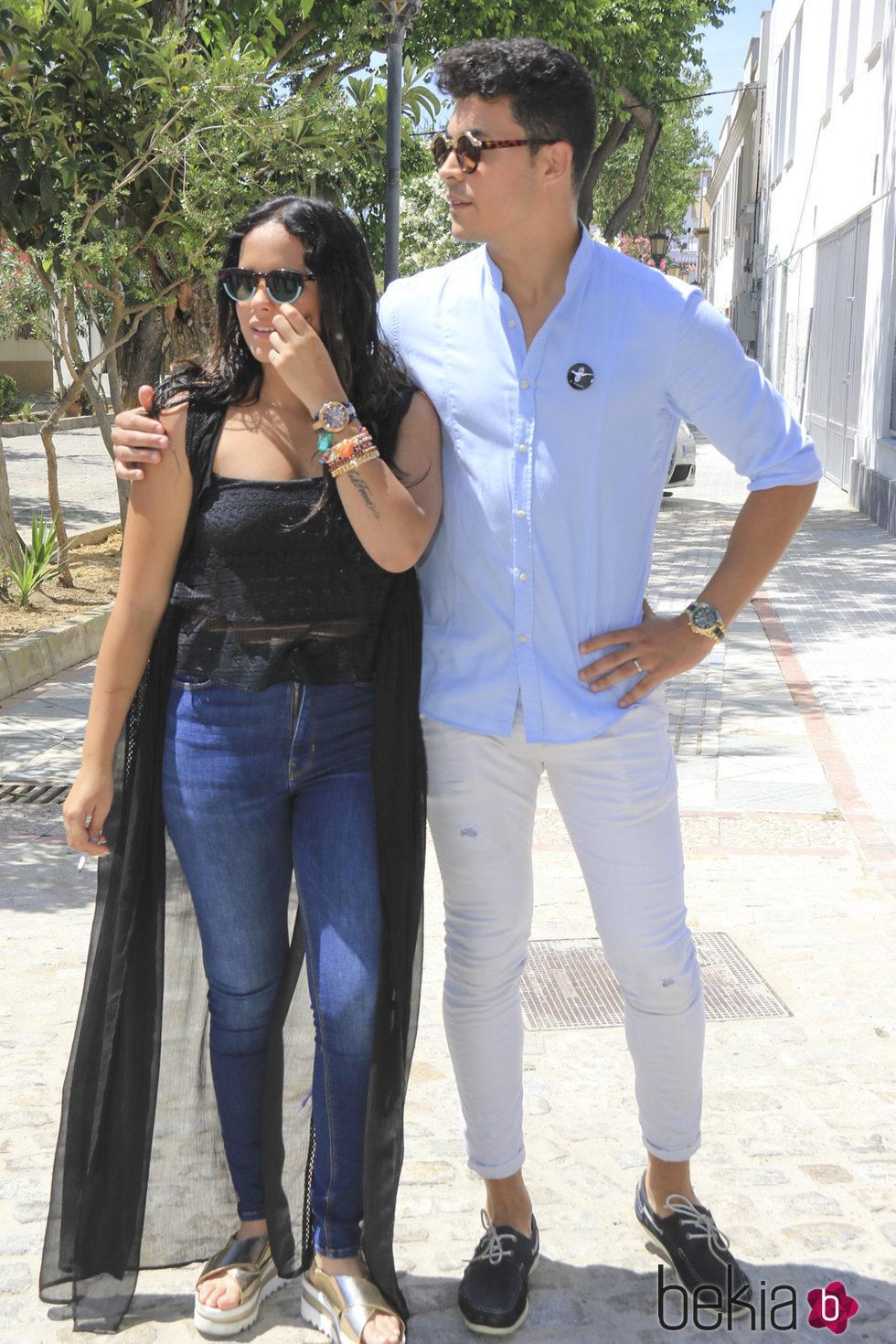 Gloria Camila y Kiko Jiménez en el 10 aniversario de la muerte de Rocío Jurado