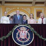 Cristina Cifuentes, el Rey Juan Carlos, la Infanta Elena y Froilán en la corrida de la Beneficencia 2016