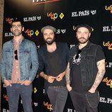 Juancho, Gerbass y Ruly del grupo Sidecars durante la gira 'One on one' de PaulMcCartney en Madrid