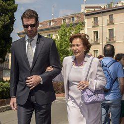 Carmen Franco Polo durante la comunión de Eugenia de Borbón en Madrid