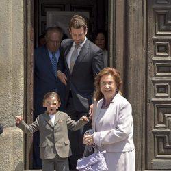 Carmen Franco en la comunión de su bisnieta Eugenia de Borbón en Madrid