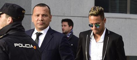 Neymar y su padre llegan a la Audiencia Nacional para declarar ante el juez