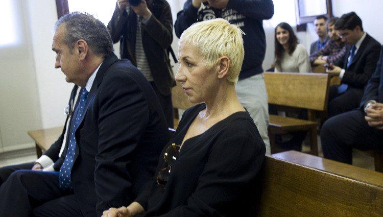 Ana Torroja durante su juicio por fraude fiscal en los Juzgados de Palma de Mallorca