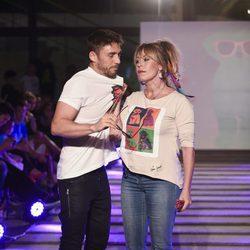 Rubén Sanz y Miriam Díaz Aroca en el segundo aniversario de By Nerea Garmendia
