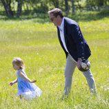Chris O'Neill acompaña a Leonor de Suecia en su primer acto oficial en Gotland