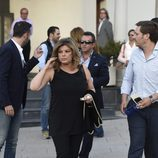 Terelu Campos en el funeral del hermano de Ivonne Reyes