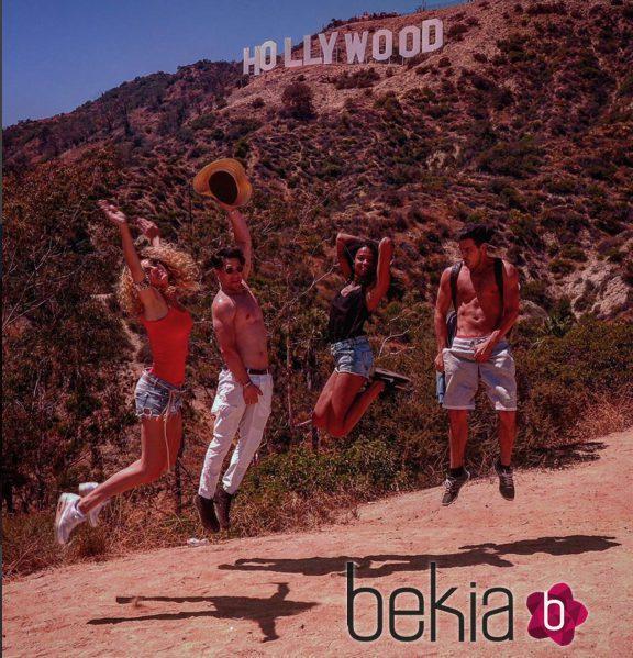 Mario y Sheila Casas y Berta Vázquez en Hollywood