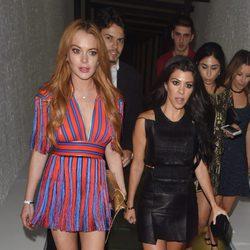 Kourtney Kardashian y Lindsay Lohan, juntas en Londres