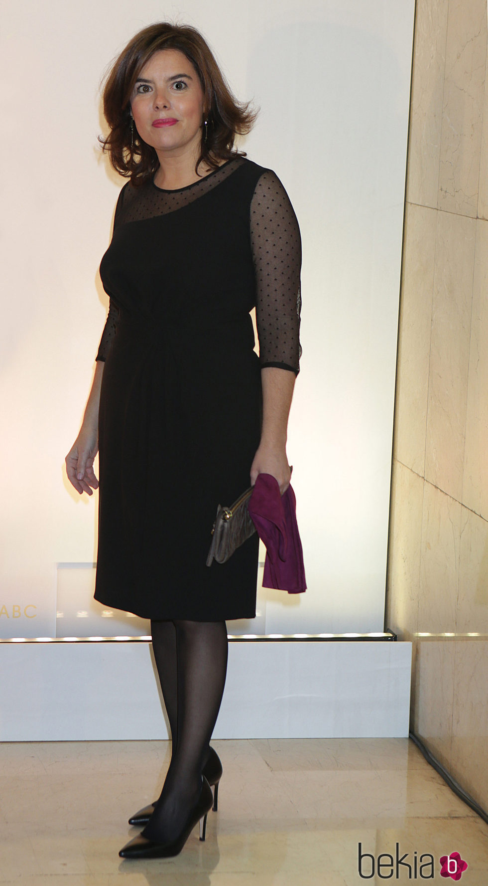 Soraya Sáenz de Santamaría durante los premios ABC en Madrid