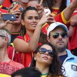 Marta Domínguez, novia de Thibaut Courtois, en el Mundial de Brasil 2014