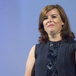 Soraya Sáenz de Santamaría en los National Fashion Awards en Madrid