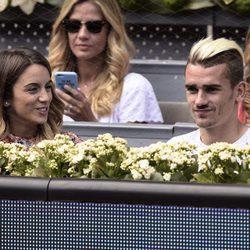 Antoine Griezmann y Erika Choperena en el Open de Madrid 2015