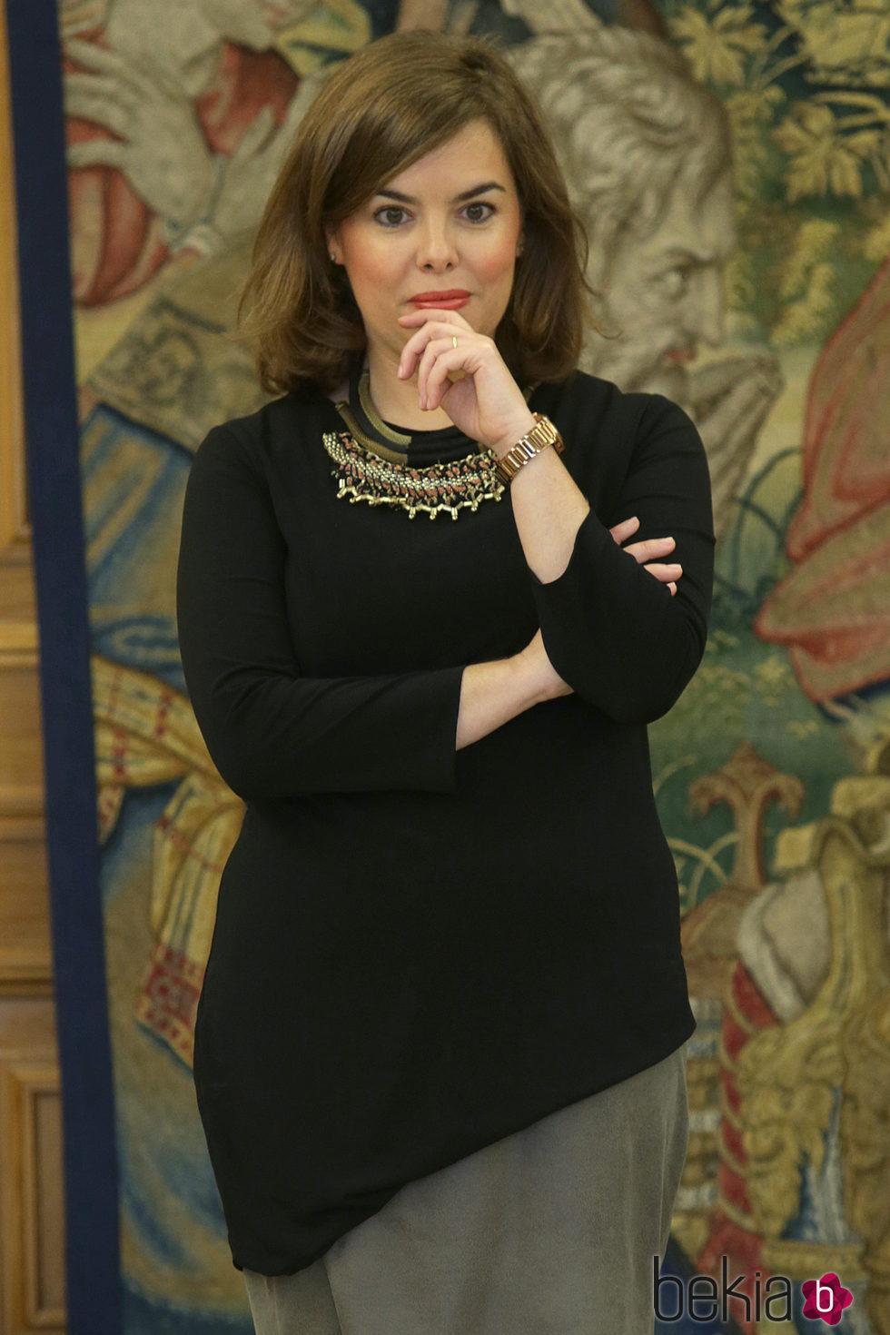 Soraya Sáenz de Santamaría durante los premios de sociología y ciencia