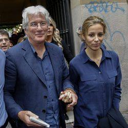 Richard Gere y Alejandra Silva en Roma en la presentación de la película 'Time out of mind'