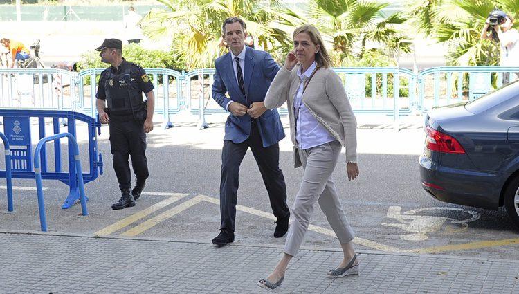 La Infanta Cristina e Iñaki Urdangarín llegan a la presentación de conclusiones del juicio por el Caso Nóos