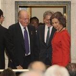 Los Reyes Juan Carlos y Sofía en la presentación de la autobiografía de Siméon de Bulgaria