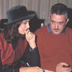 María Barranco con el director de cine Imanol Uribe