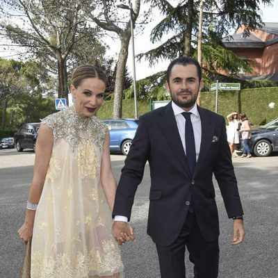 Carola Baleztena y Emiliano Suárez en la boda de Sara Verdasco y Juan Carmona