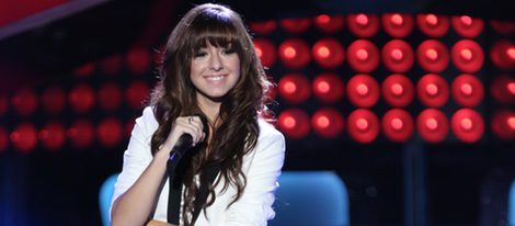 Christina Grimmie tras su audición en 'The Voice US' en 2014