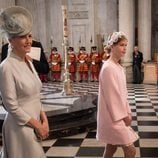 Sofia de Wessex y Lady Louise Windsor en la misa por los 90 cumpleaños de la Reina Isabel II de Inglaterra
