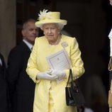 la Reina Isabel II de Inglaterra en la misa por los 90 cumpleaños de la Reina Isabel II de Inglaterra