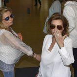 María Teresa Campos despidiéndose antes de operarse de la vesícula