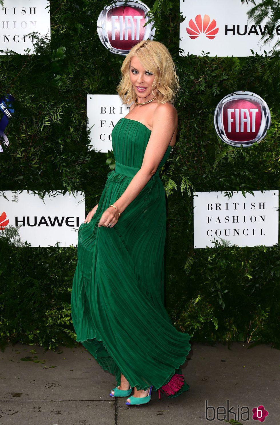 Kylie Minogue en una gala benéfica en Londres