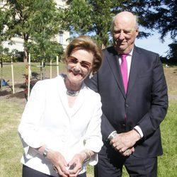 Harald y Sonia de Noruega en la inauguración del Parque del Jubileo