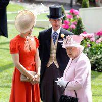 Mary de Dinamarca con la Reina Isabel y el Príncipe Eduardo en Ascot 2016