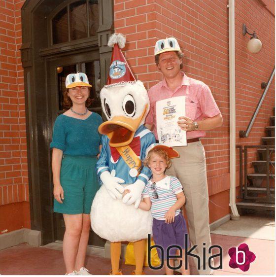 La familia Clinton celebrando el Día del Padre tiempo atrás