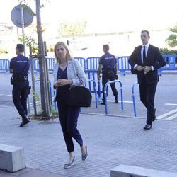 La Infanta Cristina e Iñaki Urdangarín a su llegada a la última sesión del Caso Nóos