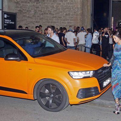 Dani Alves y Joana Sanz durante la fiesta de inauguración de la nueva tienda de la firma Mac cosmetics en Barcelona