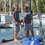 Pau Donés en un velero en Mallorca