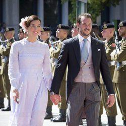 Félix de Luxemburgo y Claire Lademacher en el Te Deum por la Fiesta Nacional de Luxemburgo 2016