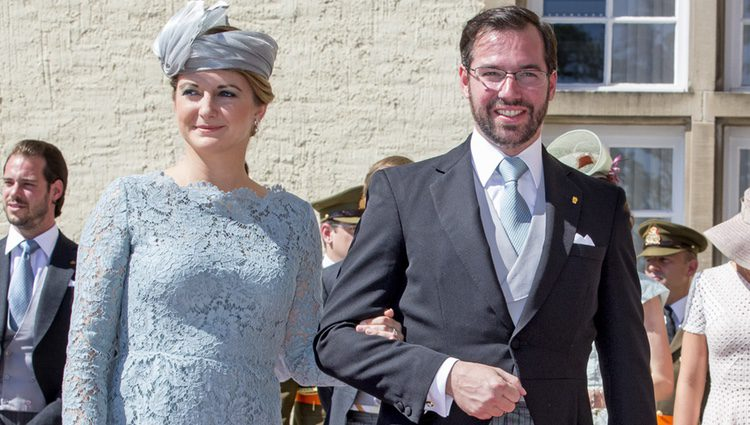 Guillermo y Estefanía de Luxemburgo en el Te Deum por la Fiesta Nacional de Luxemburgo 2016